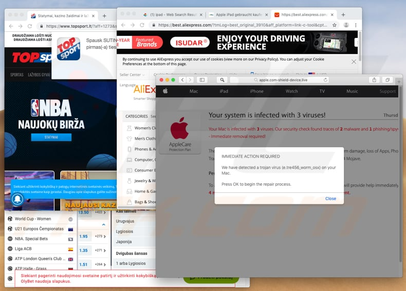 Pop-up ads adware