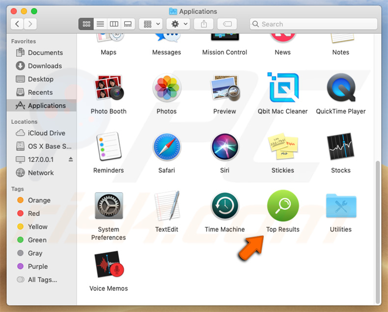 Top Results app in Mac Launchpad