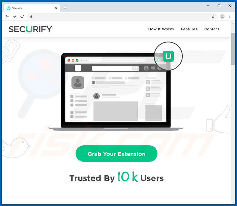 Website used to promote Securify browser hijacker