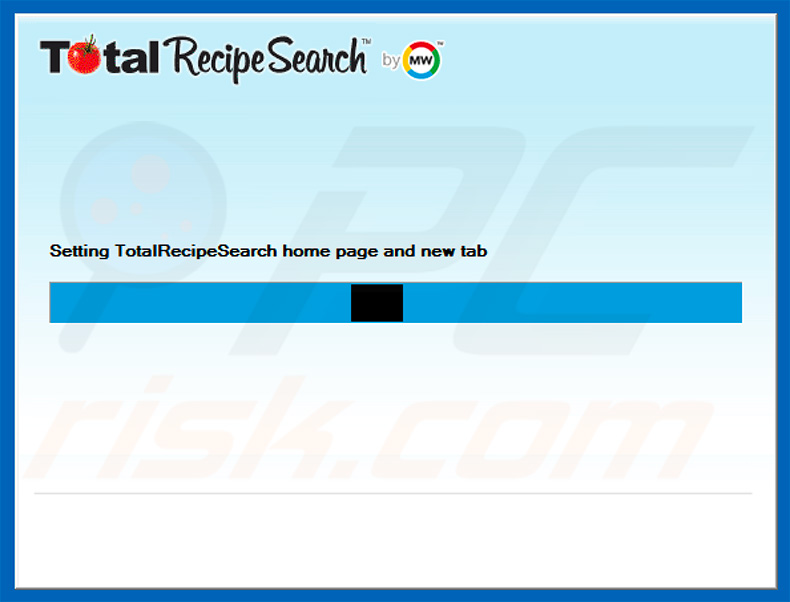 Official TotalRecipeSearch browser hijacker installation setup
