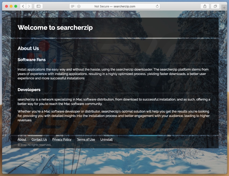 Dubious website used to promote Search.searcherzip.com