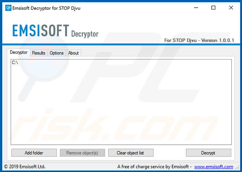 Djvu ransomware decrypter by Michael Gillespie and Emsisoft