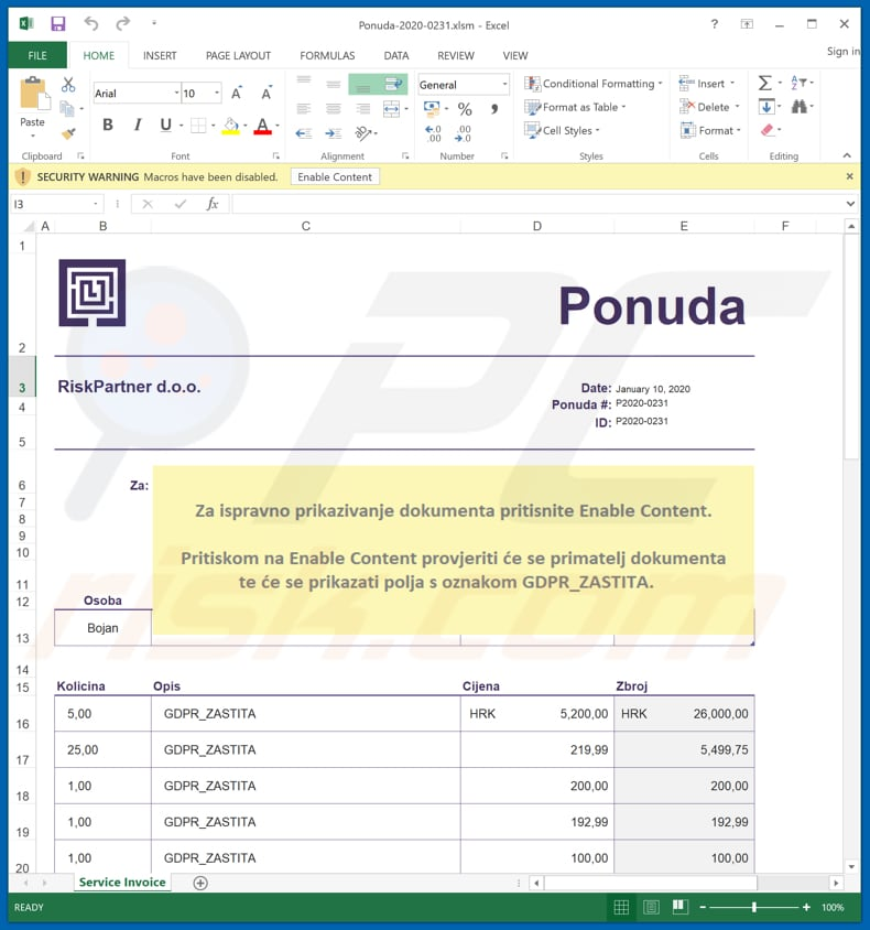 microsoft excel designed to install afrodita if allowed to enable macros commands