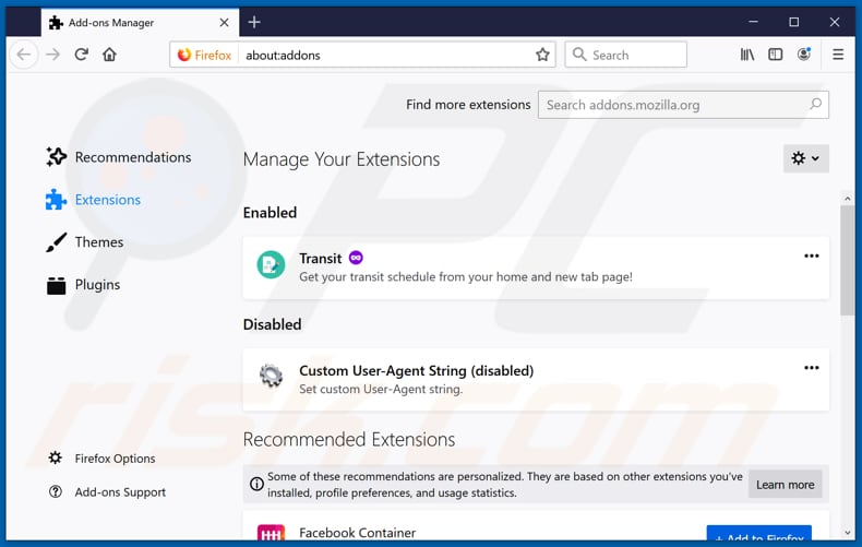Removing feed.searchstreams.com related Mozilla Firefox extensions