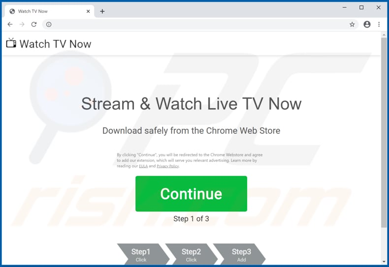 View Live News Promos pop-up redirects